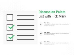 Discussion Points List With Tick Mark