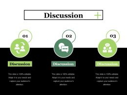 Discussion Ppt Summary Master Slide
