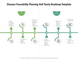 Disease Traceability Planning Half Yearly Roadmap Template