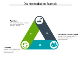 Disintermediation Example Ppt Powerpoint Presentation Example Cpb