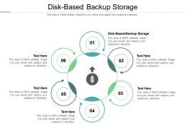 Disk Based Backup Storage Ppt Powerpoint Presentation Ideas Infographics Cpb