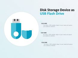Disk Storage Device As USB Flash Drive