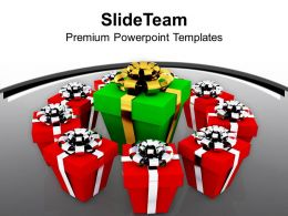 Dispaly Of Gifts Decoration PowerPoint Templates PPT Themes And Graphics 0113