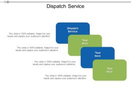 Dispatch Service Ppt Powerpoint Presentation Model Clipart Images Cpb