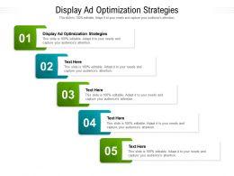 Display Ad Optimization Strategies Ppt Powerpoint Presentation Slides Inspiration Cpb