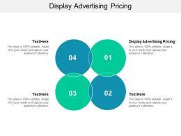 Display Advertising Pricing Ppt Powerpoint Presentation Slides Format Ideas Cpb