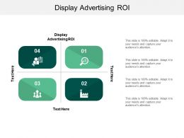 Display Advertising ROI Ppt Powerpoint Presentation Styles Images Cpb