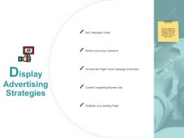 Display Advertising Strategies Campaign Ppt Powerpoint Presentation Portfolio