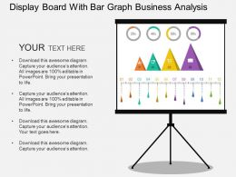 Display Board With Bar Graph Business Analysis Flat Powerpoint Design