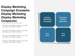 Display Marketing Campaign Examples Display Marketing Display Marketing Companies Cpb