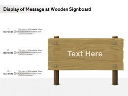 Display Of Message At Wooden Signboard