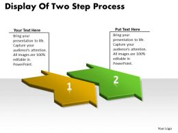 Display Of Two Step Process Manufacturing Flow Chart Symbols Powerpoint Templates
