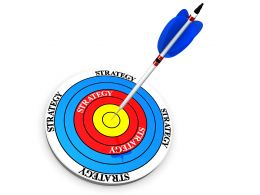 Display Target Success And Sales With Dart And Arrow In Business Strategy Stock Photo