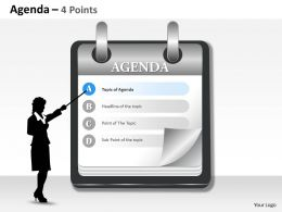 Display The Agenda Of Sales 0214