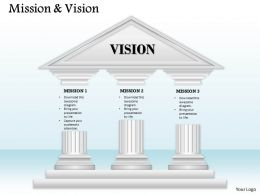 Display Vision And Mission On Three Staged Diagram 0214