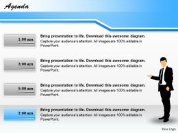 Display Your Agenda On 4 Text Boxes 0214