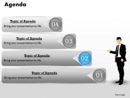 Display Your Agenda On Four Staged Diagram 0214
