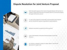 Dispute Resolution For Joint Venture Proposal Ppt Powerpoint Designs