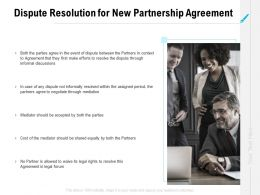 Dispute Resolution For New Partnership Agreement Ppt Powerpoint Samples