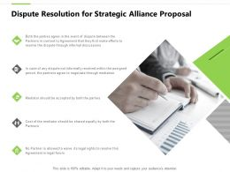 Dispute Resolution For Strategic Alliance Proposal Mediator Ppt Slides