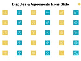 Disputes And Agreements Icons Slide Success Gears Ppt Powerpoint Presentation Model