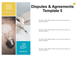 Disputes And Agreements Template Agenda Ppt Powerpoint Presentation Model Clipart