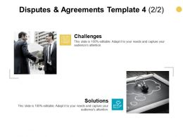 Disputes And Agreements Template Audiences Attention Ppt Powerpoint Presentation