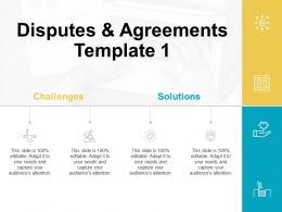 Disputes And Agreements Template Challenges Ppt Powerpoint Presentation Model Show