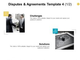 Disputes And Agreements Template Opportunities Ppt Powerpoint Presentation Model Visuals