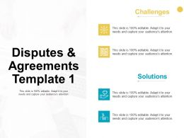 Disputes And Agreements Template Slide Solutions Ppt Powerpoint Presentation Model Outline