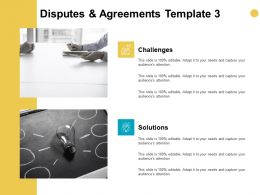Disputes And Agreements Template Technology Ppt Powerpoint Presentation Model Styles
