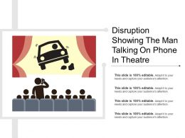 Disruption Showing The Man Talking On Phone In Theatre