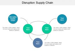 Disruption Supply Chain Ppt Powerpoint Presentation Summary Ideas Cpb