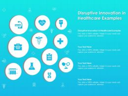 Disruptive Innovation In Healthcare Examples Ppt Powerpoint Presentation File Show