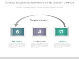 Disruptive Innovation Strategy Powerpoint Slide Templates Download