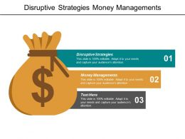 Disruptive Strategies Money Managements Organization Change Management Tools Cpb
