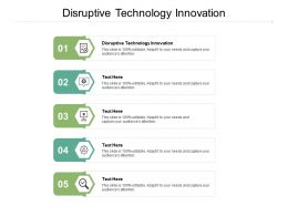 Disruptive Technology Innovation Ppt Powerpoint Presentation Pictures Themes Cpb