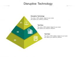 Disruptive Technology Ppt Powerpoint Presentation Professional Brochure Cpb