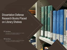 Dissertation Defense Research Books Placed On Library Shelves