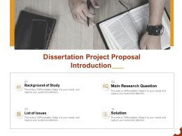 Dissertation Project Proposal Introduction Ppt Powerpoint Presentation File Example