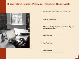 Dissertation Project Proposal Research Constraints Ppt Powerpoint Presentation Inspiration