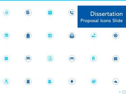 Dissertation Proposal Icons Slide Ppt Powerpoint Presentation Gallery Background Image