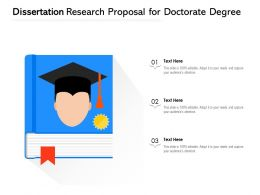 Dissertation Research Proposal For Doctorate Degree