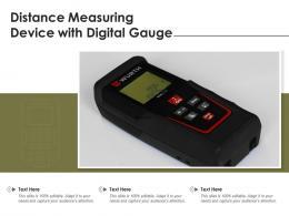 Distance Measuring Device With Digital Gauge