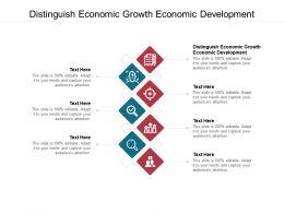 Distinguish Economic Growth Economic Development Ppt Powerpoint Presentation File Graphics Cpb