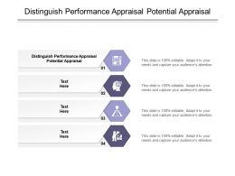 Distinguish Performance Appraisal Potential Appraisal Ppt Powerpoint Presentation Inspiration File Formats Cpb