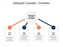 Distinguishcausation Correlation Ppt Powerpoint Presentation Show Introduction Cpb