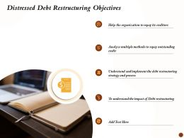 Distressed Debt Restructuring Objectives Repay Outstanding Ppt Backgrounds