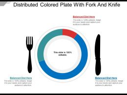 Distributed Colored Plate With Fork And Knife