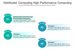 Distributed Computing High Performance Computing Ppt Powerpoint Presentation Icon Cpb